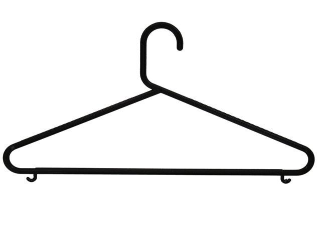 Plastové ramínko na šaty s příčkou P66
