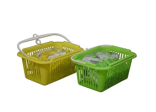 Kolíčky na prádlo s košíkem 25 ks