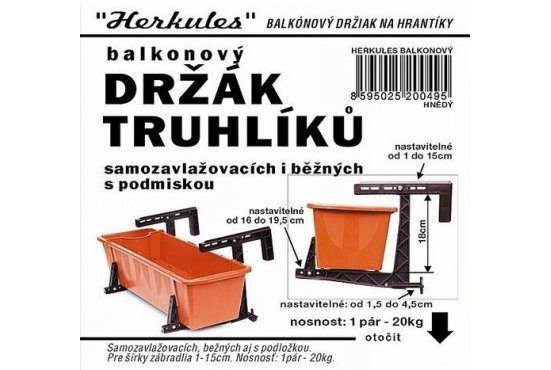 Držák truhlíků balkonový HERKULES